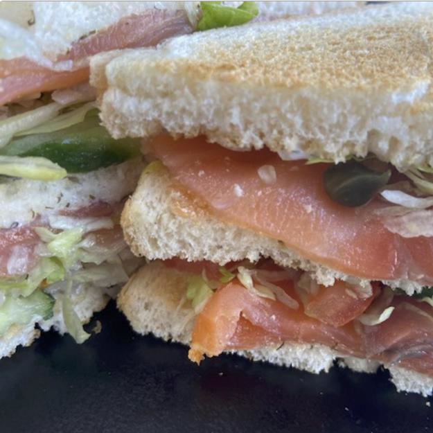 Club Sandwich Gerookte Zalm